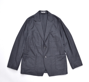 AURALEE 「 WOOL FULLING FLANNEL JACKET / TOP CHARCOAL 」