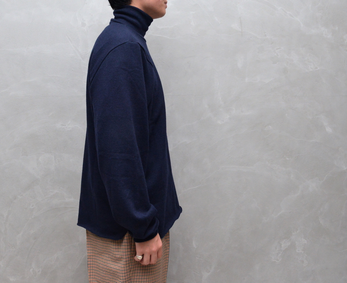 CAMIEL FORTGENS 「 10.01.01 TAILORED TEE TURTLE WOOL JERSEY / DARK BLUE 」