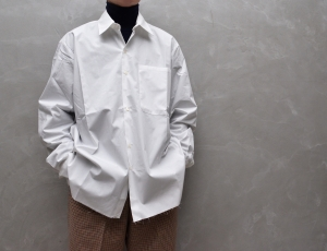 CAMIEL FORTGENS 「 10.03.10 OVERSIZED BASIC SHIRT COTTON / WHITE 」