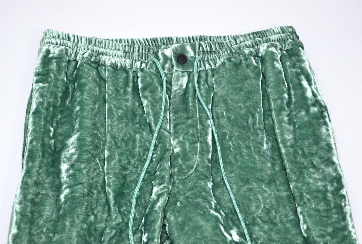 WHOWHAT 「 VELVET EE PANTS / ANTIQUE GREEN 」