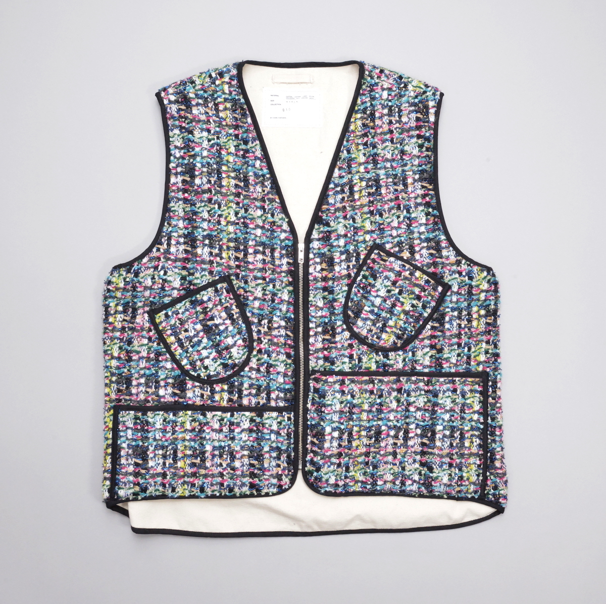 CAMIEL FORTGENS「 10.02.04 WORKER VEST CHANNEL TWEED 」
