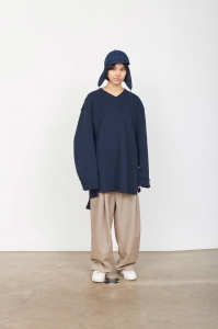 CAMIEL FORTGENS「 10.04.03 OVERSIZED RIB SWEATER COTTON RIB  」