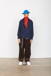CAMIEL FORTGENS 「 10.03.10 OVERSIZED BASIC SHIRT COTTON / DARK NAVY 」*再入荷