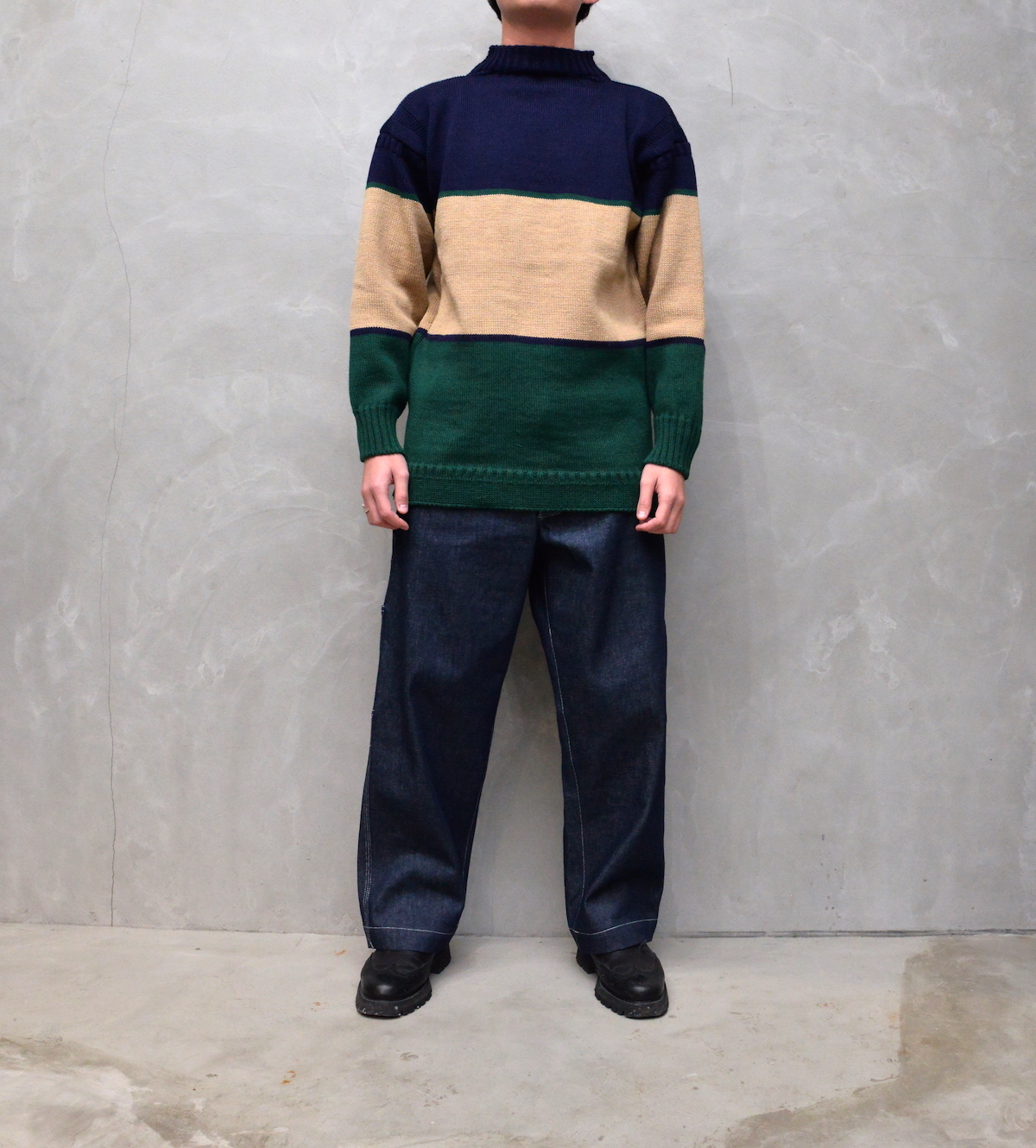 """BROWN by 2-tacs 「 TRADITIONAL """" WIDE BORDER """" / NAVY & GREEN 」"""
