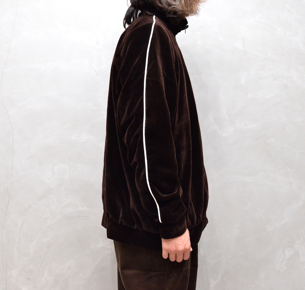 CAMIEL FORTGENS 「 10.08.08 TRACK JACKET WITH PIPING VELVET 」