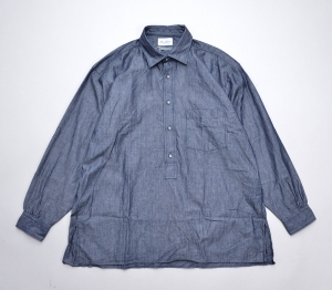 Marvine Pontiak shirt makers 「 Wide Spread P/O SH / Indigo Dobby 」