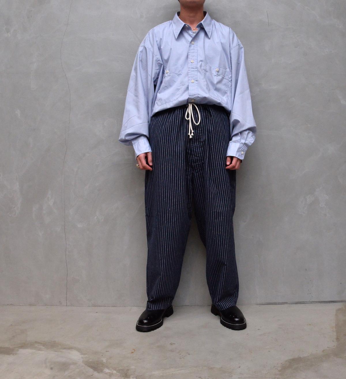 Marvine Pontiak shirt makers 「 Pajama Pants 2 / Navy ST 」