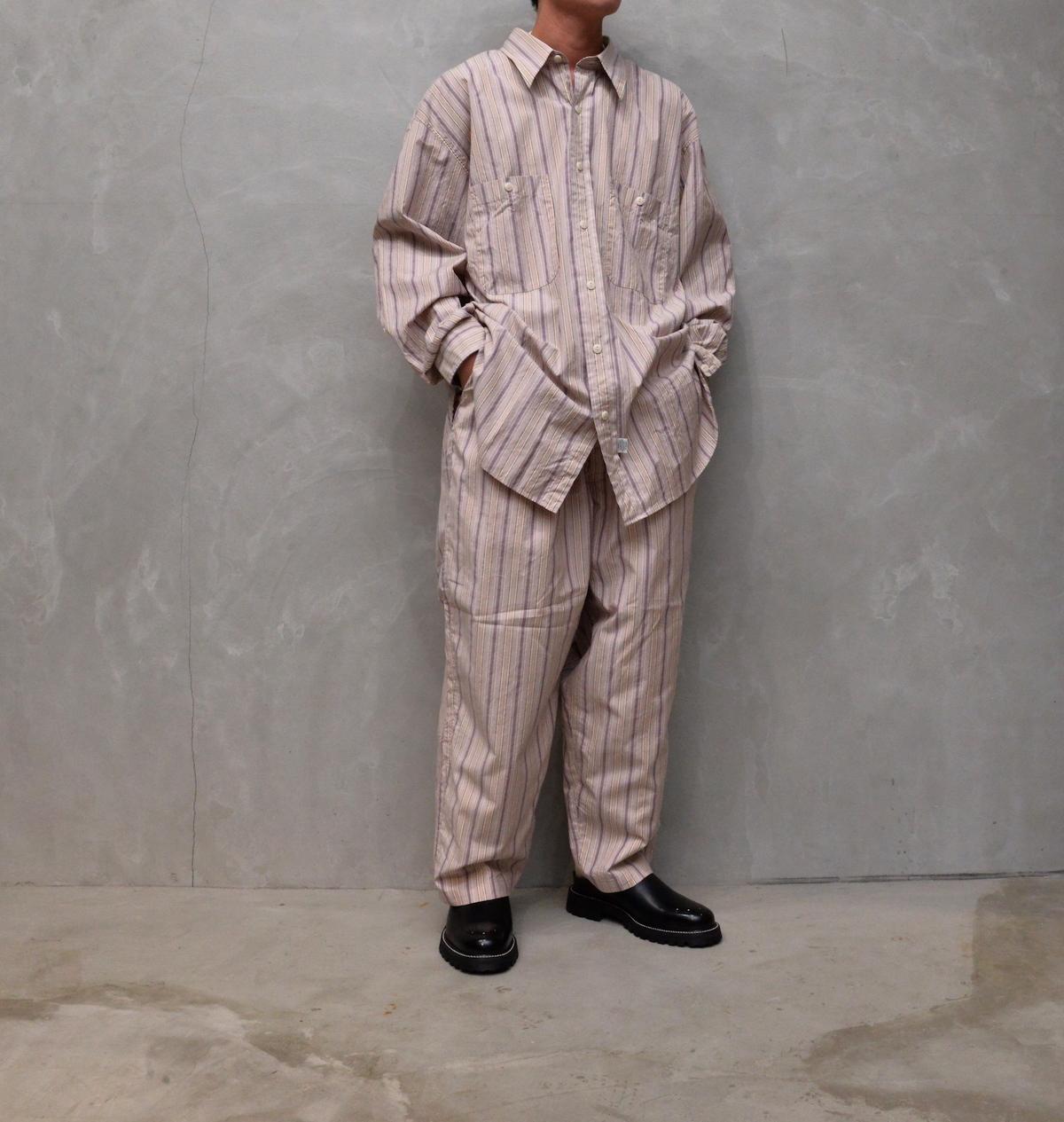 Marvine Pontiak shirt makers 「 Military SH / Beige Pink ST 」