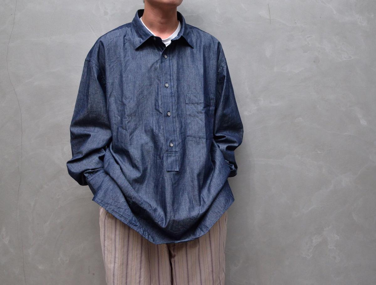 Marvine Pontiak shirt makers 「 Wide Spread P/O SH / Indigo Dobby 」