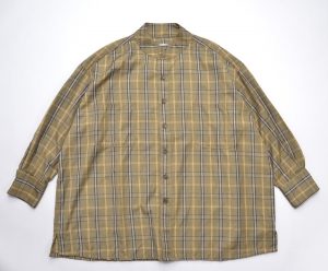 HOMELESS TAILOR 「 STAND COLLAR SHIRT / khaki 」