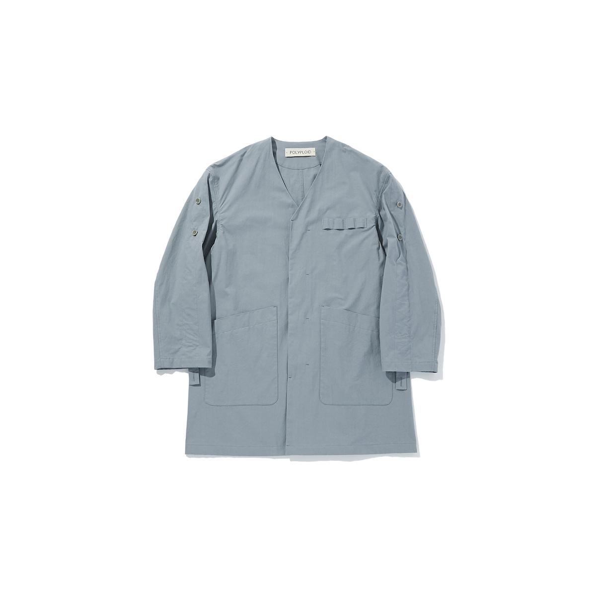 POLYPLOID 「 ATELIER COAT TYPE-C : 2021SS / BLUE GRAY 」