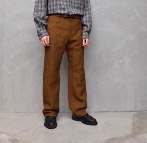 AURALEE 「 COTTON LINEN LENO 5P PANTS / BROWN 」