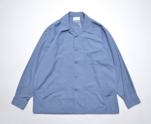 Marvine Pontiak shirt makers 「 Drizzler SH - Blue Ripstop 」