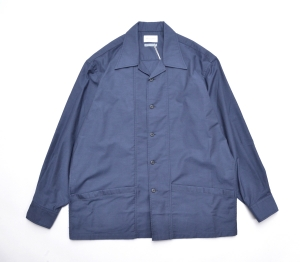 Marvine Pontiak shirt makers 「 Drizzler SH - Navy kersey 」