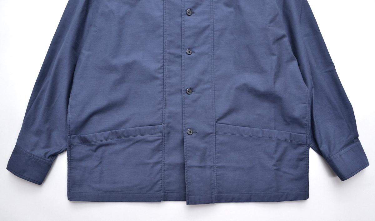 Marvine Pontiak shirt makers 「 Drizzler SH - Navy kersey 」