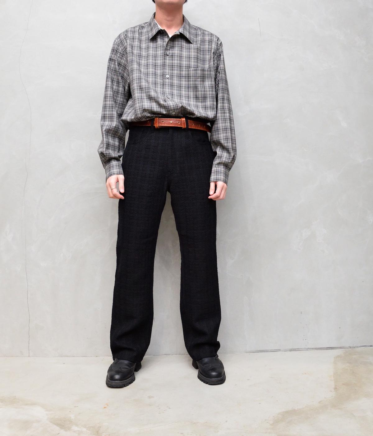 AURALEE 「 COTTON LINEN LENO 5P PANTS / BLACK 」