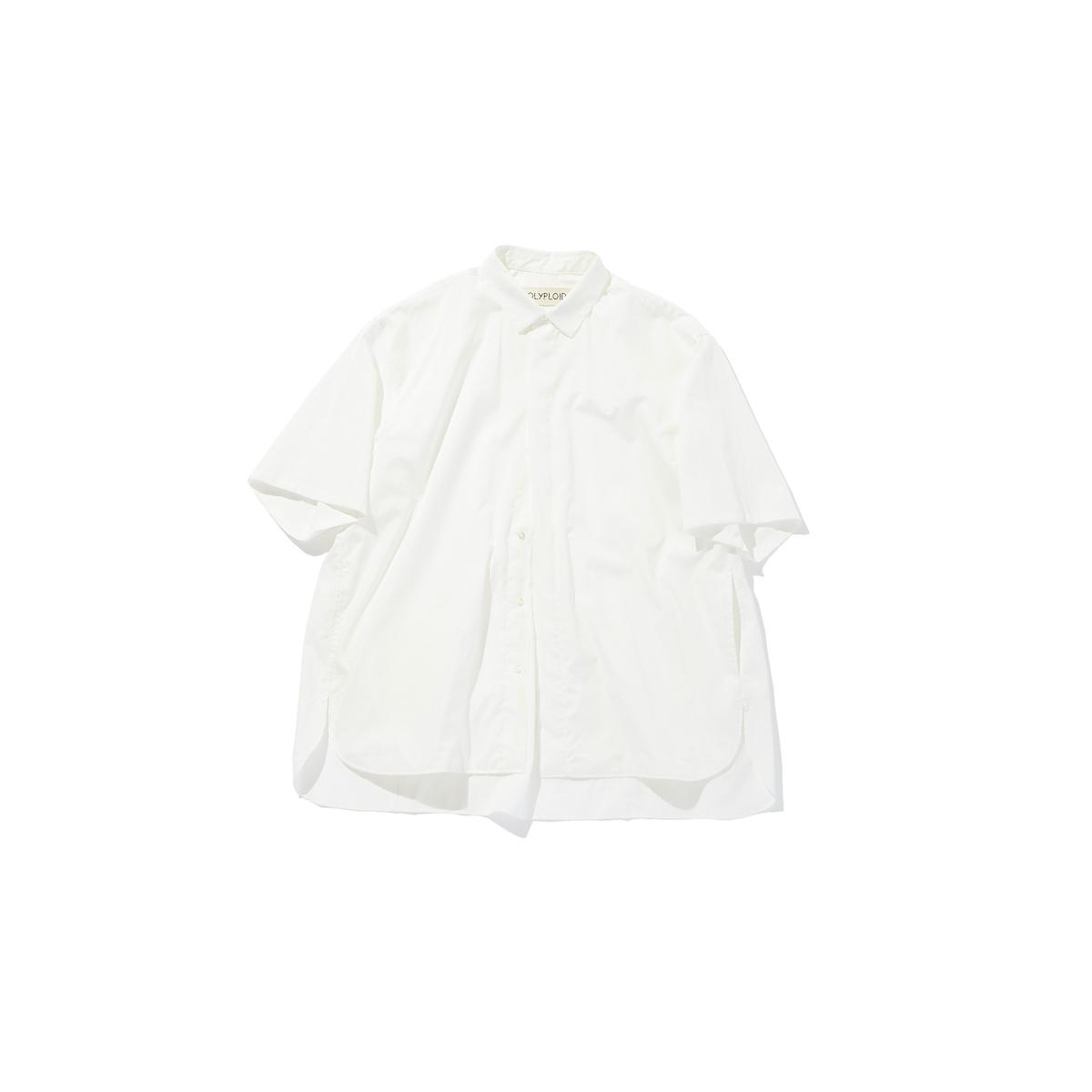 POLYPLOID 「 SHORT SLEEVE SHIRT TYPE-C / WHITE 」