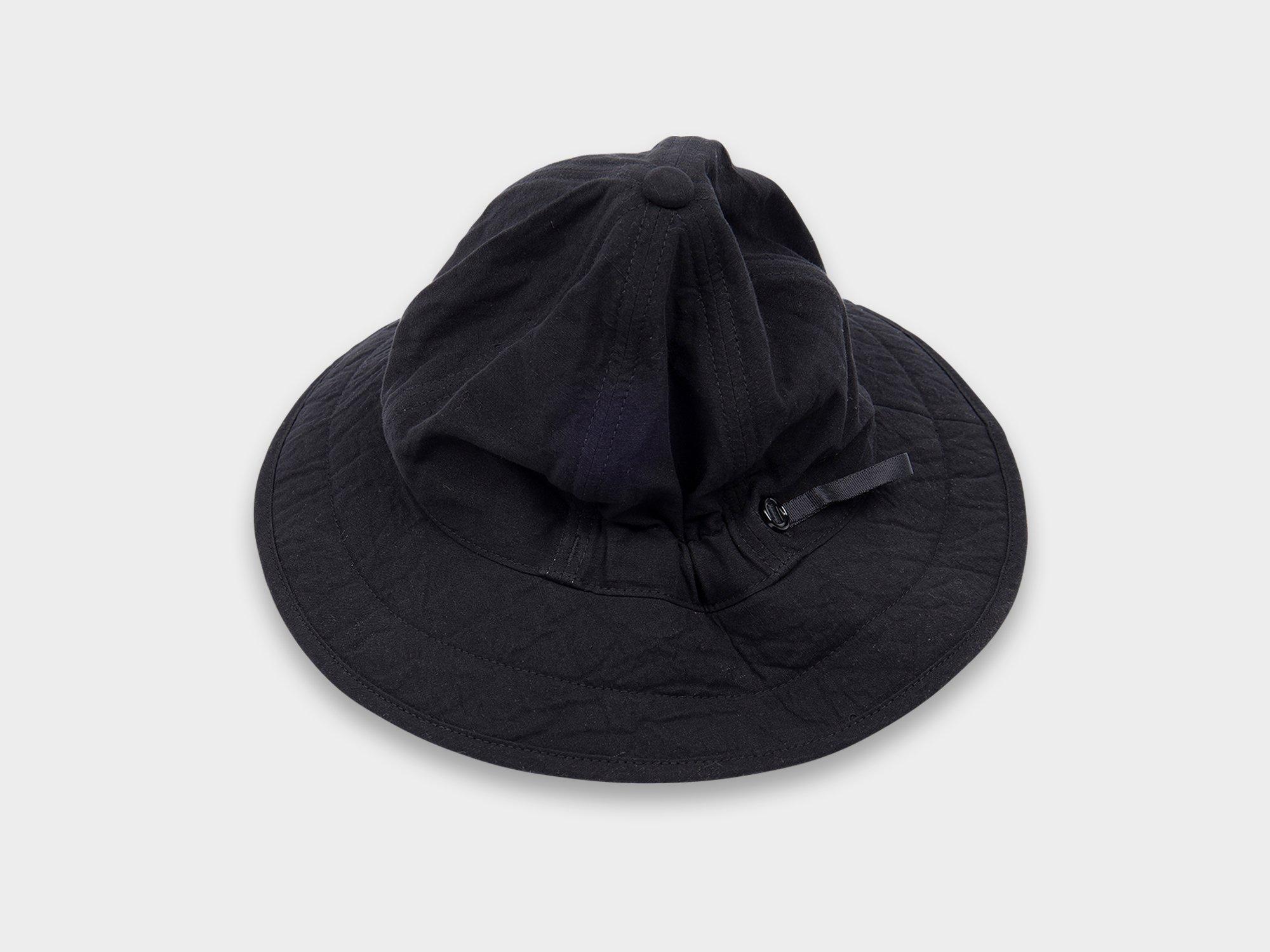 MAN-TLE 「 R10C2 - SIX PANEL HAT / SHADE BLACK 」