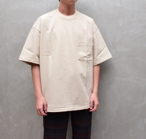 AURALEE「 STAND-UP TEE (2021SS) / NATURAL 」