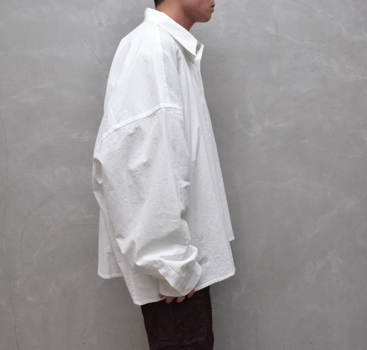 WHOWHAT 「 5X SHIRT – SHORT LENGTH LONG SLEEVE- / WHITE 」