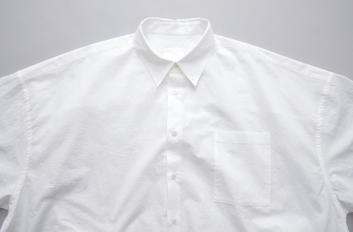 WHOWHAT 「 5X SHIRT – SHORT LENGTH SHORT SLEEVE- / WHITE 」