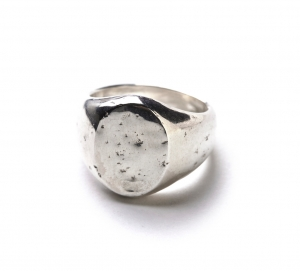 OLD JOE BRAND. 「 STATE HOUSE (OVAL SIGNET RING / HAMMERED) 」
