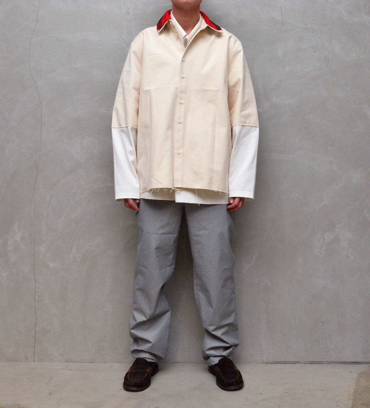CAMIEL FORTGENS 「 11.11.02 RESEARCH EXTENDED SLEEVE SHIRT CANVAS/JERSEY 」