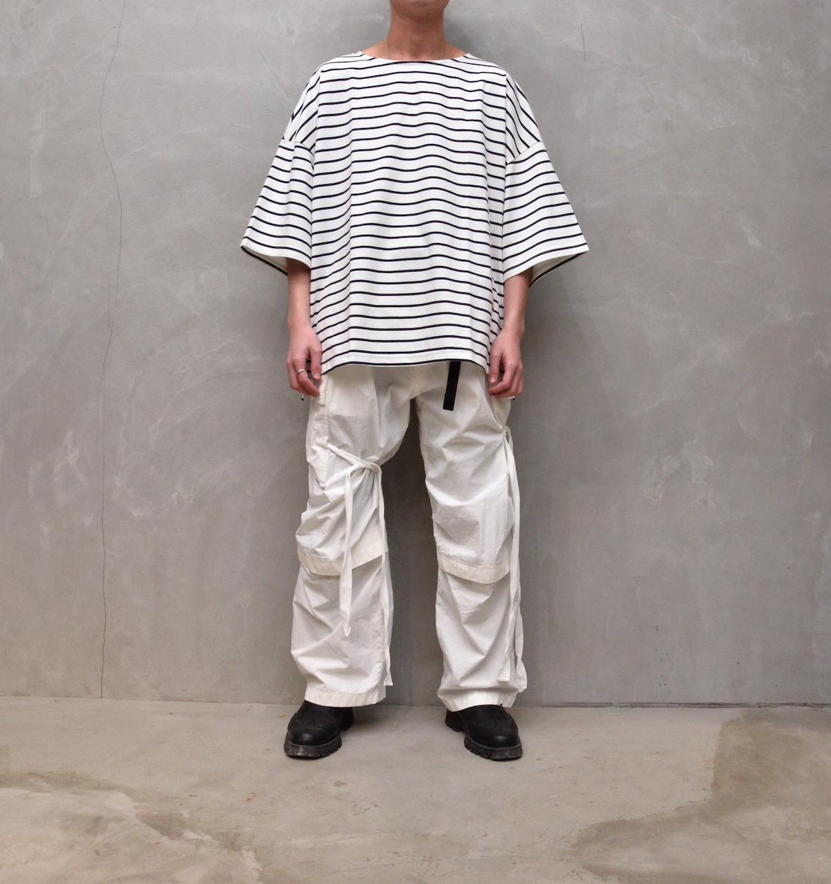 WHOWHAT 「 5X T-SHIRT -SHORT SLEEVE- /  WHITE × DARK NAVY 」