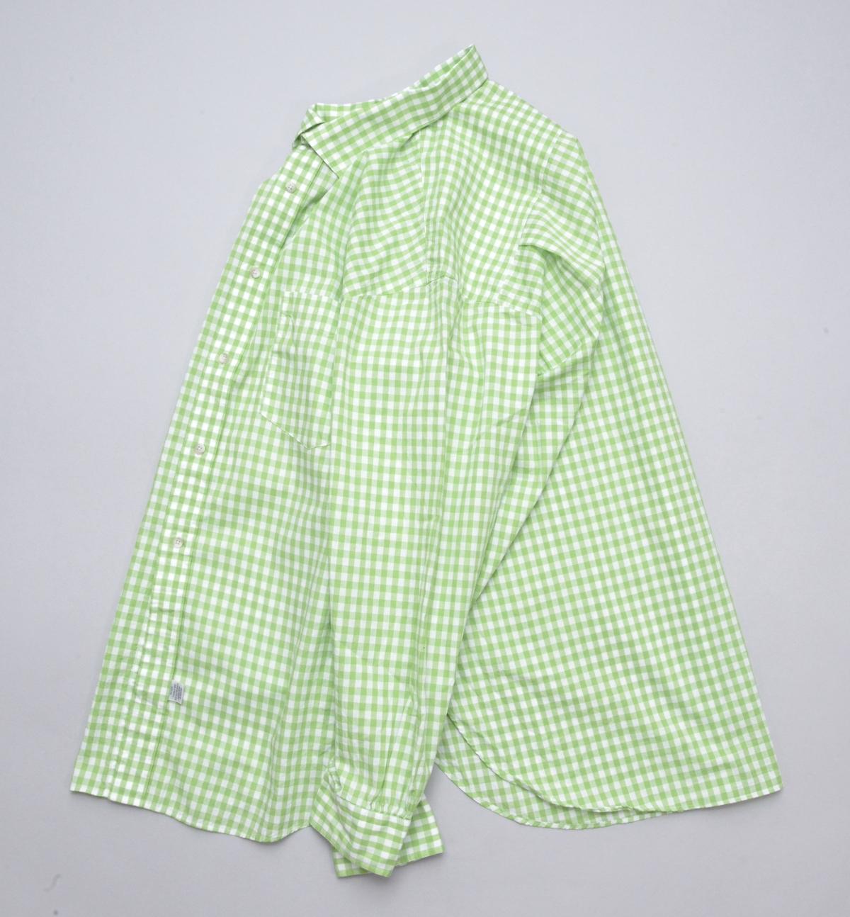 Marvine Pontiak shirt makers 「 Italian Collar SH / Sea Green Gingham 」