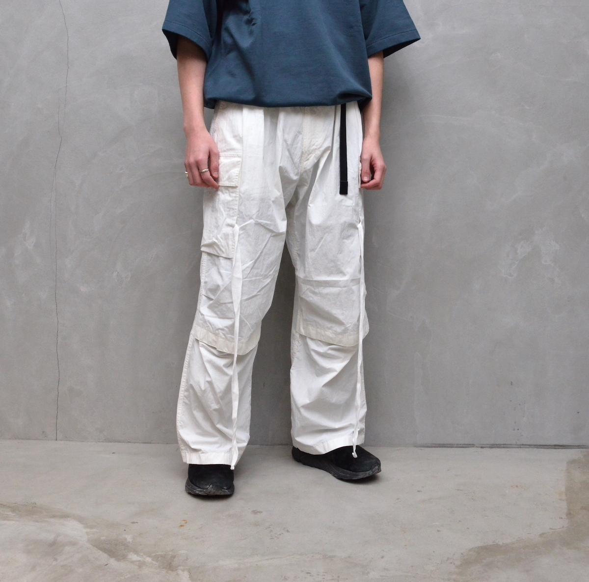 ESSAY 「 P-4 : MILITARY TECH PANTS(2021SS) / white 」