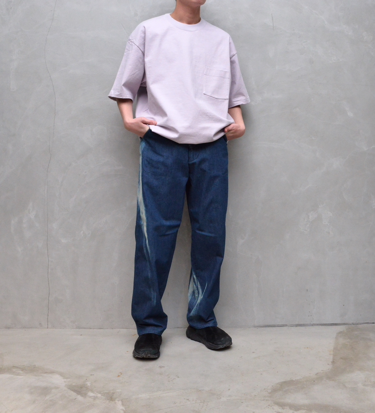 AURALEE 「 STAND-UP TEE / LIGHT PURPLE  (21ss) 」