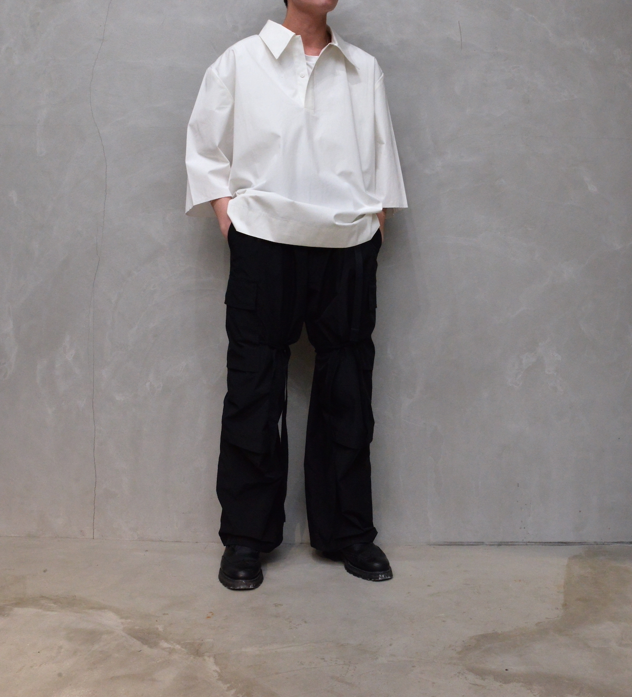 CAMIEL FORTGENS 「 11.03.06 1BUTTON POLO SHIRT SHORT SLEEVE COTTON / WHITE 」