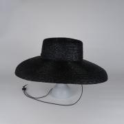 凹凸 -bocodeco- 「 Straw Shade Brim Amish / BLK 」