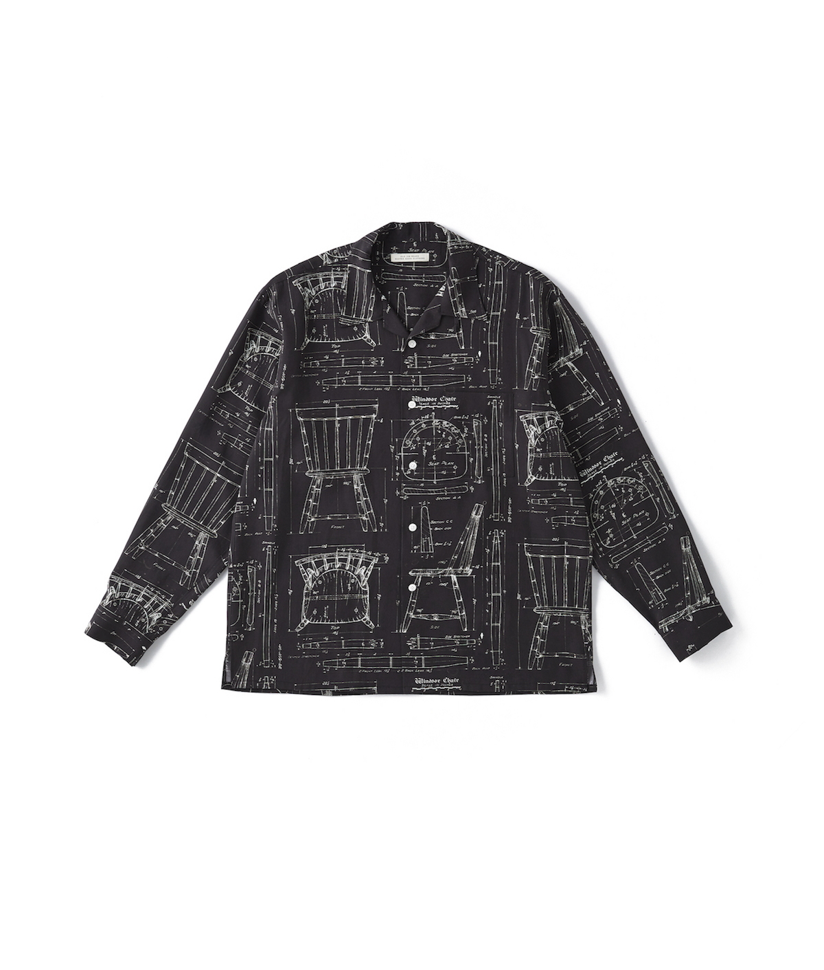 OLD JOE BRAND. 「 ORIGINAL PRINTED OPEN COLLAR SHIRTS (BLUE PRINT) Long-sleeve 」