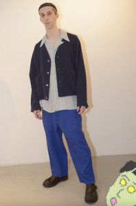 HOMELESS TAILOR 「 GRANDPA CARDIGAN / BLUE MIX 」