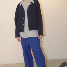 HOMELESS TAILOR 「 GRANDPA CARDIGAN / BLUE MIX 」