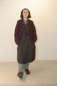 HOMELESS TAILOR 「 GRANDPA CARDIGAN / WINE MIX 」