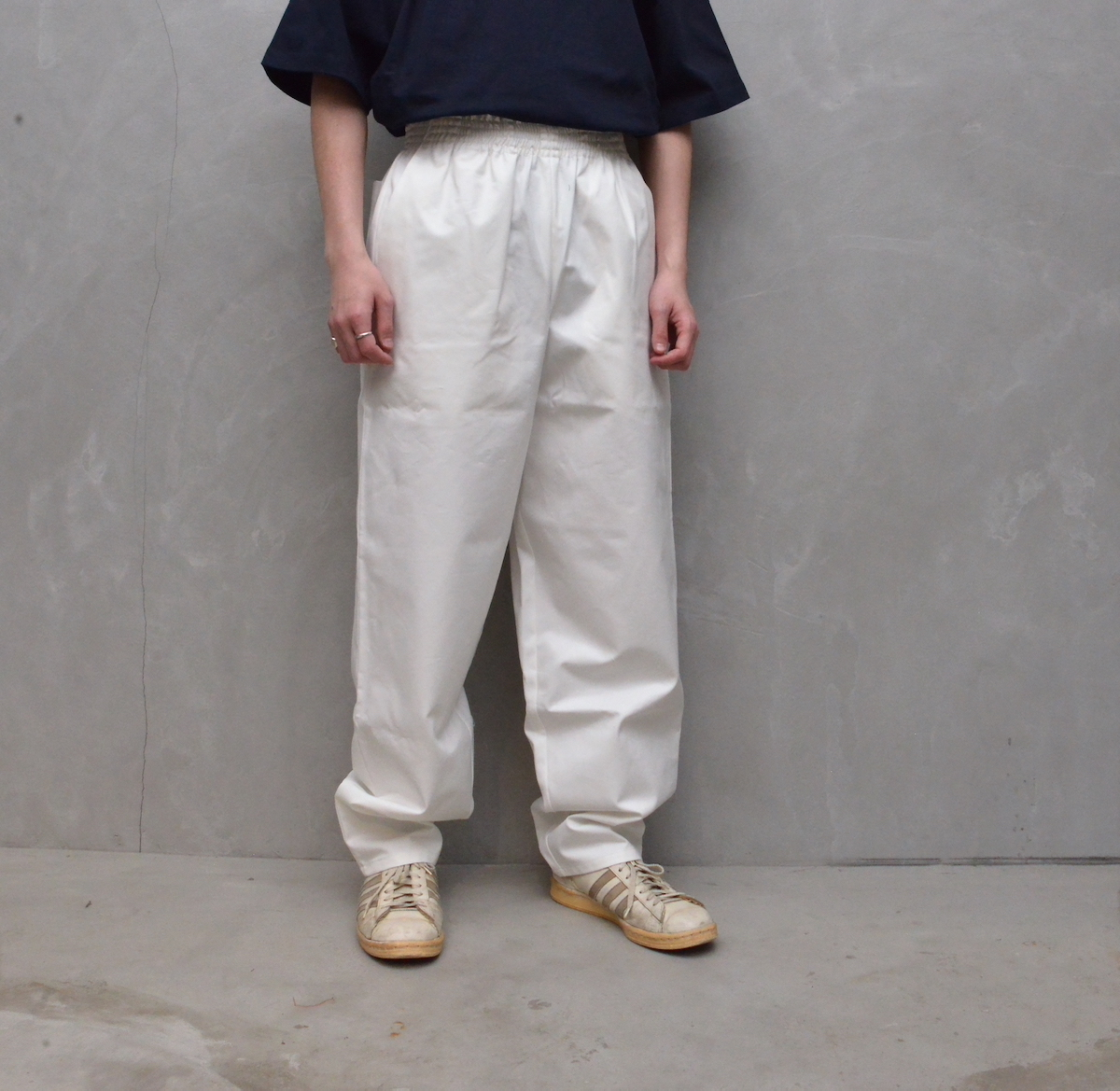 CAMIEL FORTGENS 「 11.05.06 GRANDPA PANTS COTTON TWILL / WHITE 」