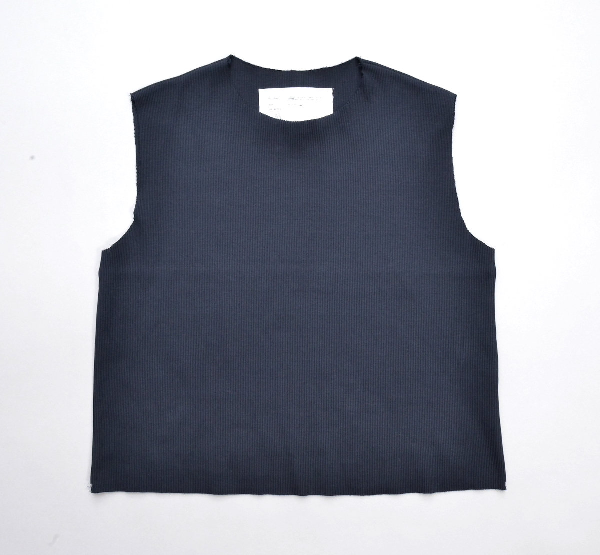CAMIEL FORTGENS 「 11.01.09 FITTED RIB TOP JERSEY / NAVY 」
