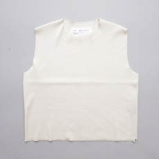 CAMIEL FORTGENS 「 11.01.09 FITTED RIB TOP JERSEY  / OFF-WHITE 」