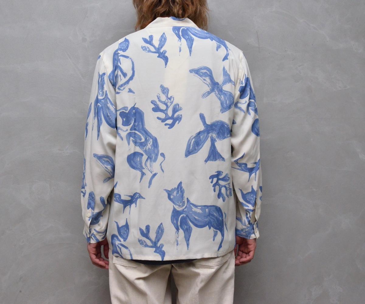 OLD JOE BRAND. 「 ORIGINAL PRINTED OPEN COLLAR SHIRTS (DRAWING) Long-sleeve 」