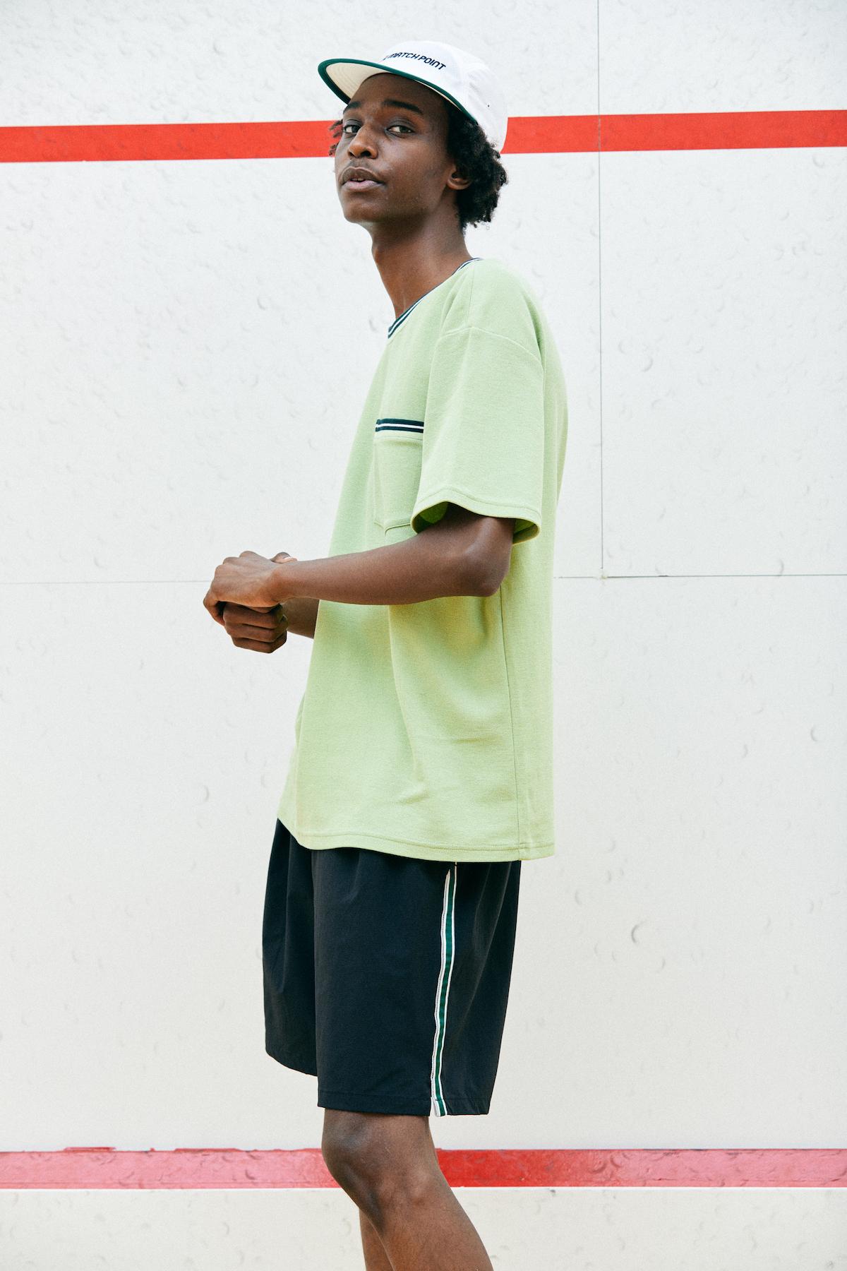 COMFORTABLE REASON 「Athletic Shorts / BLACK(GREEN LINE)」