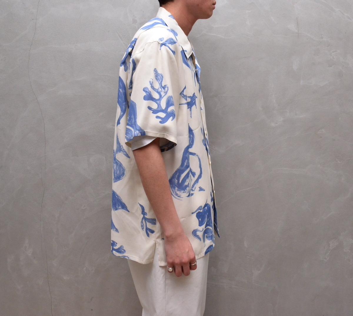 OLD JOE BRAND. 「 ORIGINAL PRINTED OPEN COLLAR SHIRTS (DRAWING) Short-sleeve」