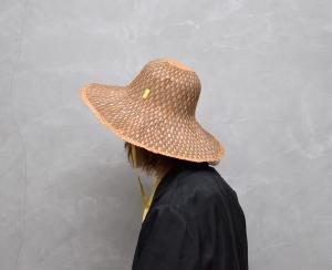 凹凸 -bocodeco- 「 Grosgrain / Raffia Mix Hat - BEIGE YELLOW 」