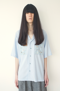 WHOWHAT 「 POETRY(ORGANZA POCKET SHIRT) / LIGHT SAXE BLUE 」