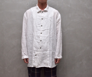 AUGUSTE-PRESENTATION PajamaLook 「 パッカブルレギュラーカラーシャツ / WHITE 」