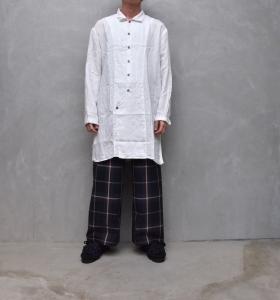 AUGUSTE-PRESENTATION PajamaLook 「 パッカブルレギュラーカラーロングシャツ / WHITE 」