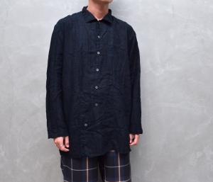 AUGUSTE-PRESENTATION PajamaLook 「 パッカブルレギュラーカラーシャツ / NAVY 」