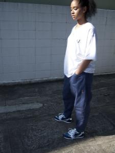 gourmet jeans「 TYPE 03 - LEAN / BLUE(落書きグルメ) 」