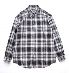 AURALEE 「 WOOL RECYCLED POLYESTER CLOTH SHIRTS / BLACK CHECK 」